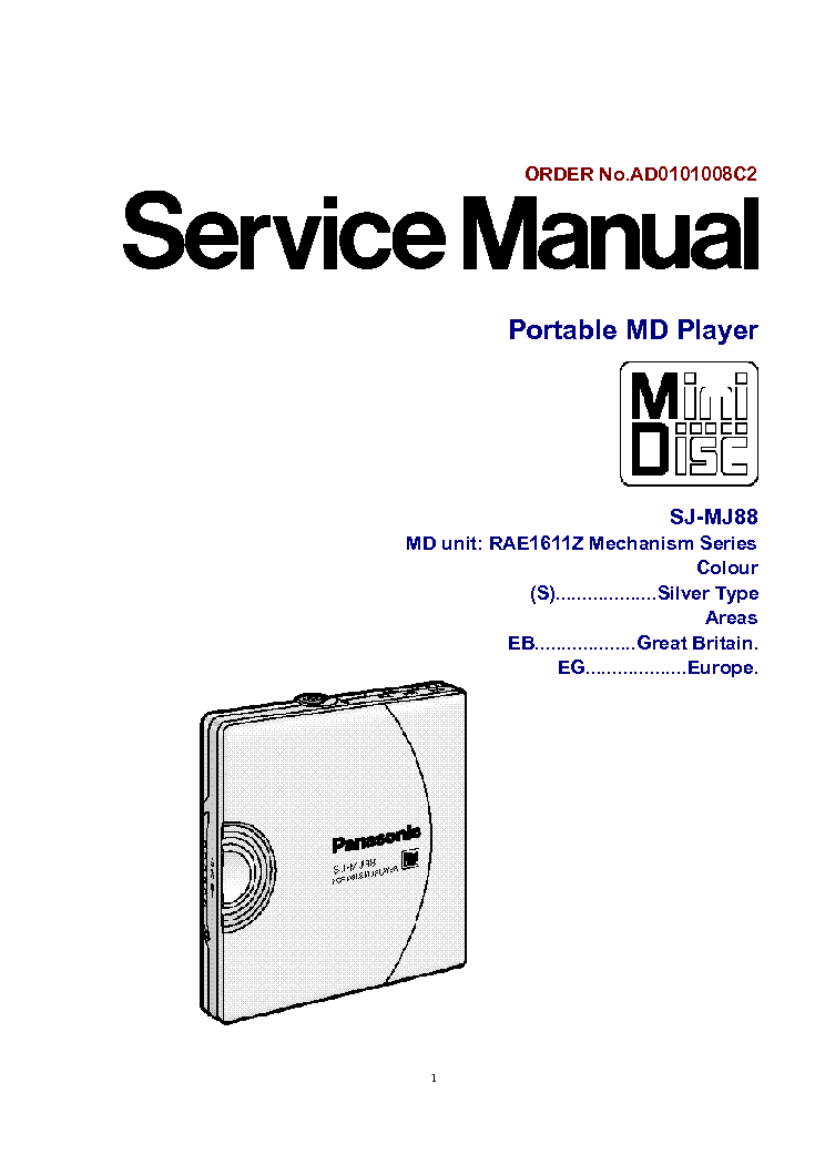 PANASONIC SA-AK25 Service Manual free download, schematics