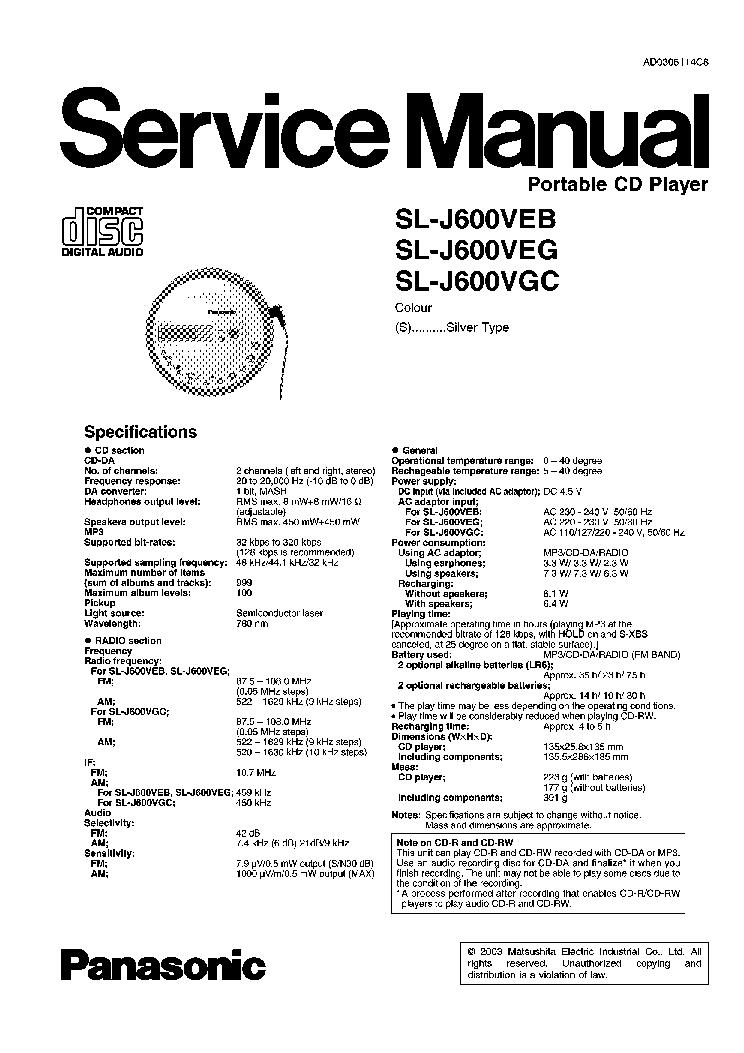 PANASONIC SA-PM 17 Service Manual download, schematics
