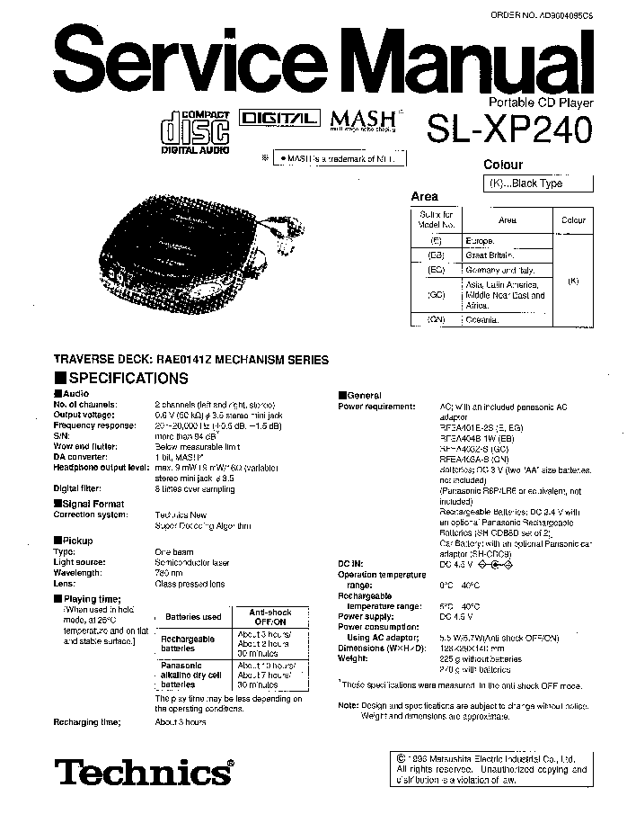 PANASONIC RX-ES29EE Service Manual download, schematics