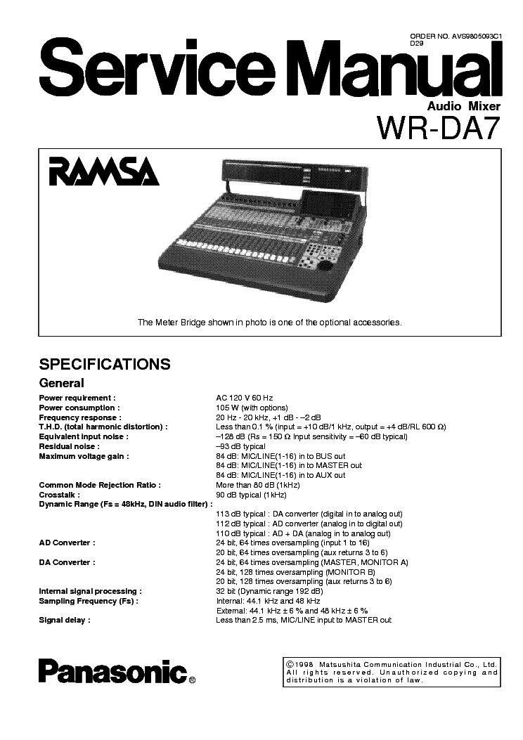 PANASONIC SA-AK33 Service Manual free download, schematics
