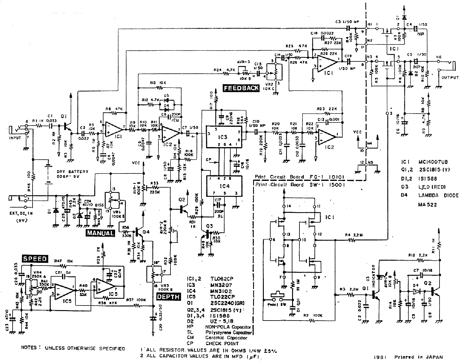 hight resolution of pearl flanger sch service manual 1st page