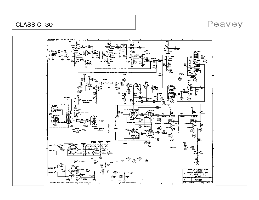 PEAVEY PV-2600 Service Manual download, schematics, eeprom
