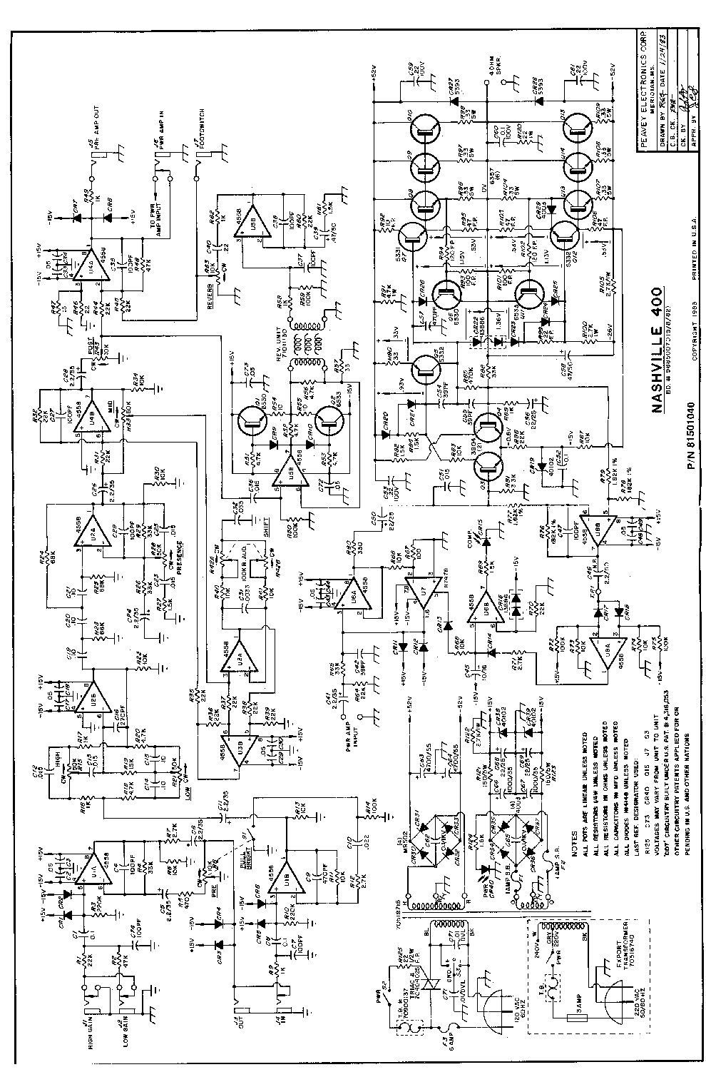 Wiring Diagrams Of Peavey Amp Speakers, Wiring, Get Free