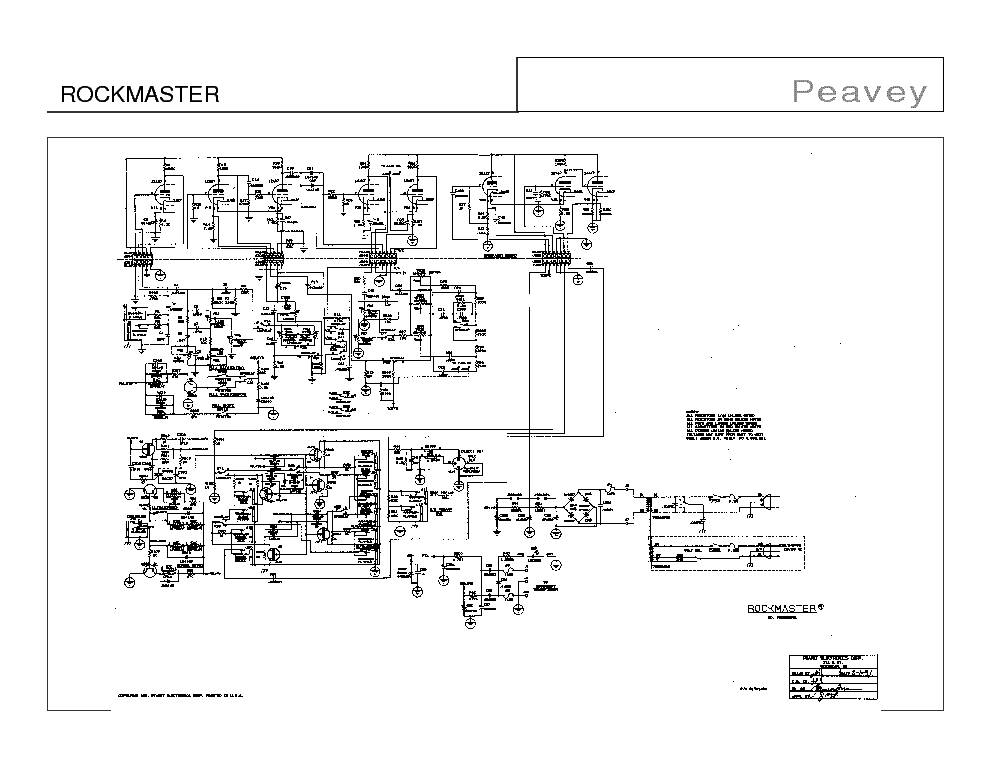 PEAVEY ROCKMASTER SCH Service Manual download, schematics
