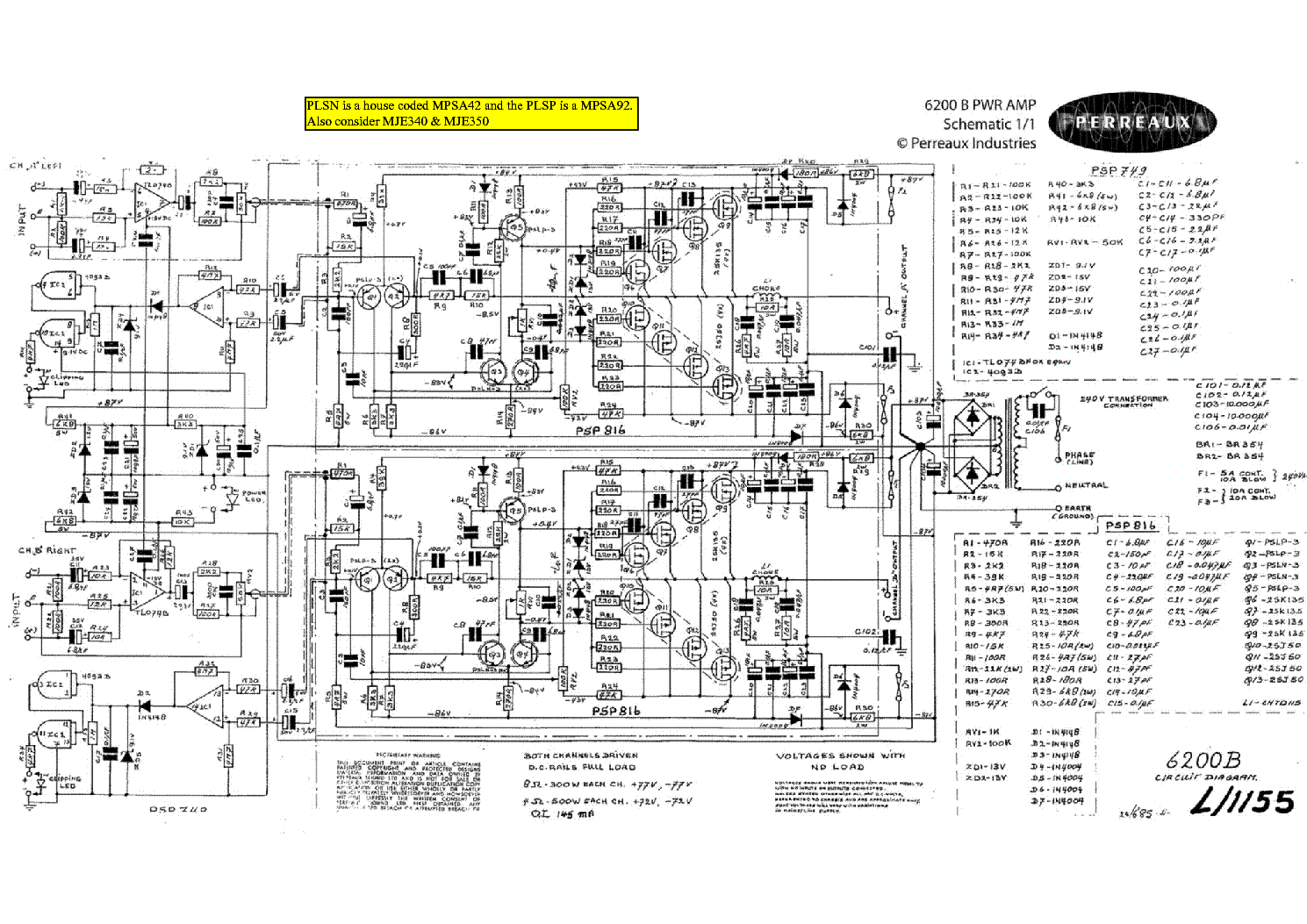 PERREAUX 6200B SCH Service Manual download, schematics