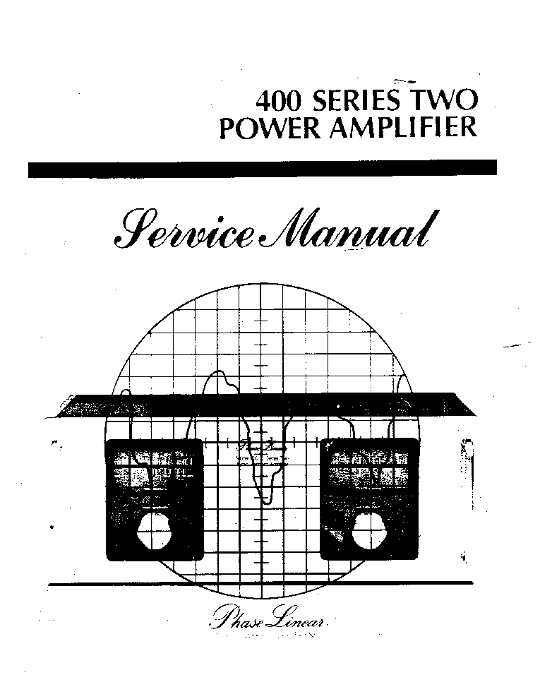 PHASE-LINEAR 400 SERIES MK2 SM Service Manual download