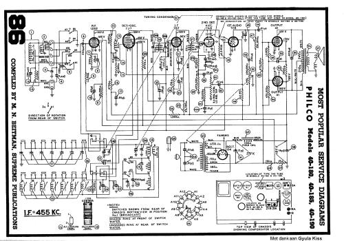 small resolution of radio schematics free wiring diagram mega philco 40 180 40 185 40 190 radio sch service