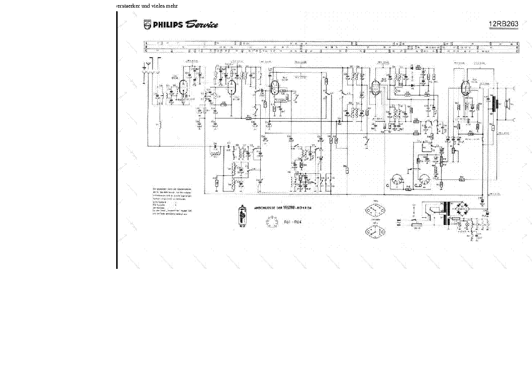 PHILIPS 12RB263 Service Manual download, schematics