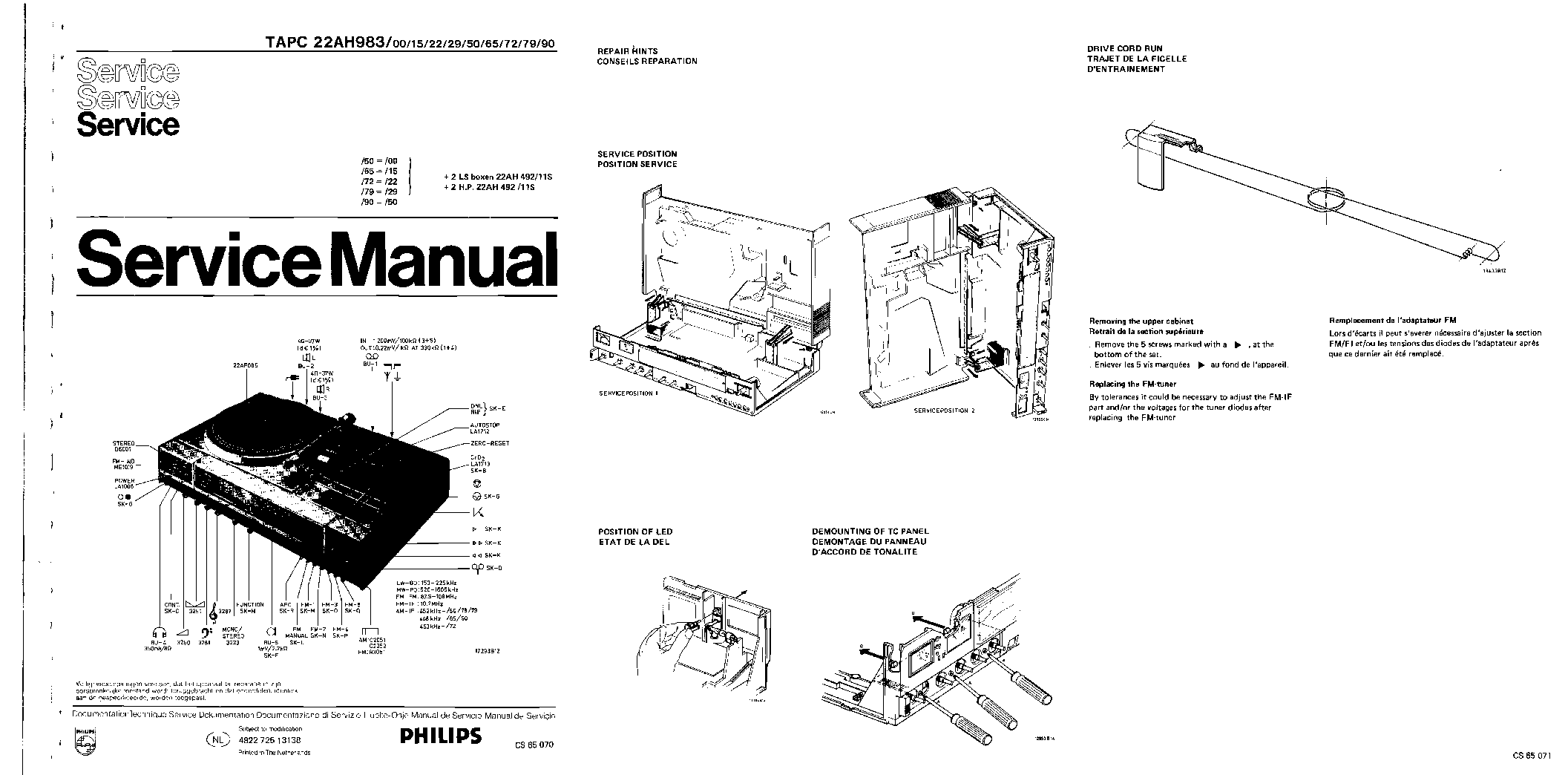 PHILIPS 206A VINTAGE RADIO SM Service Manual download
