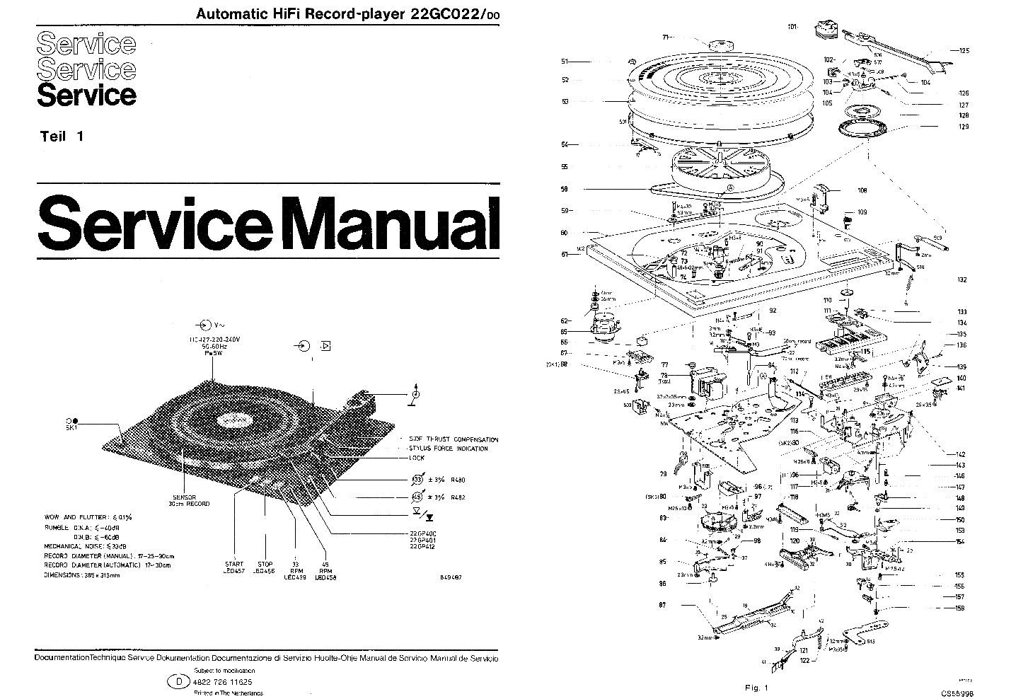 PHILIPS 22GA222 Service Manual download, schematics