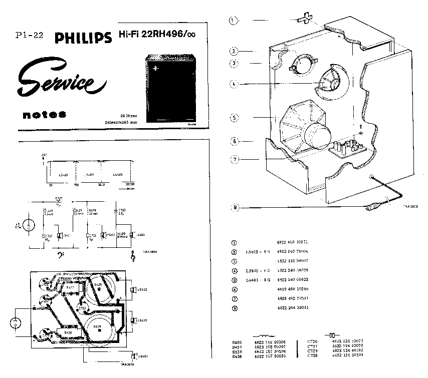 PHILIPS 22RH496 SCH Service Manual download, schematics