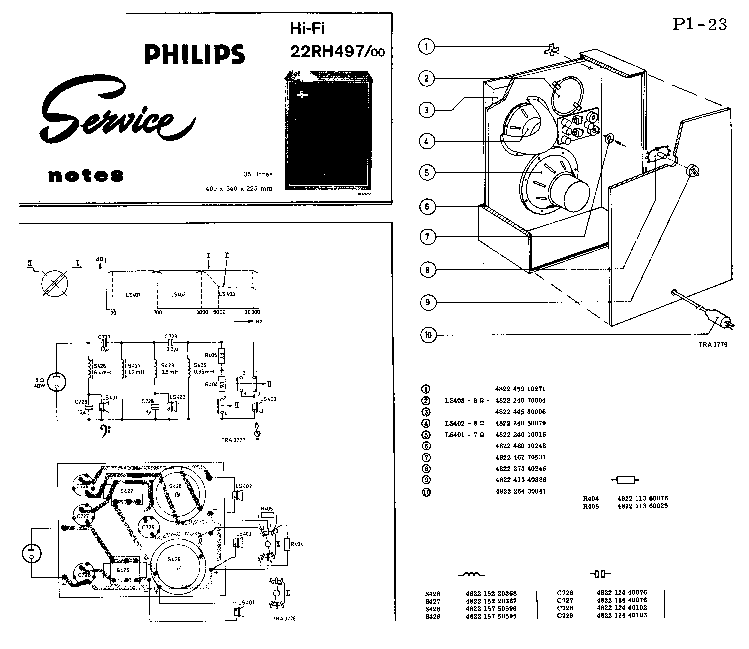 PHILIPS 22RH497 SCH Service Manual download, schematics