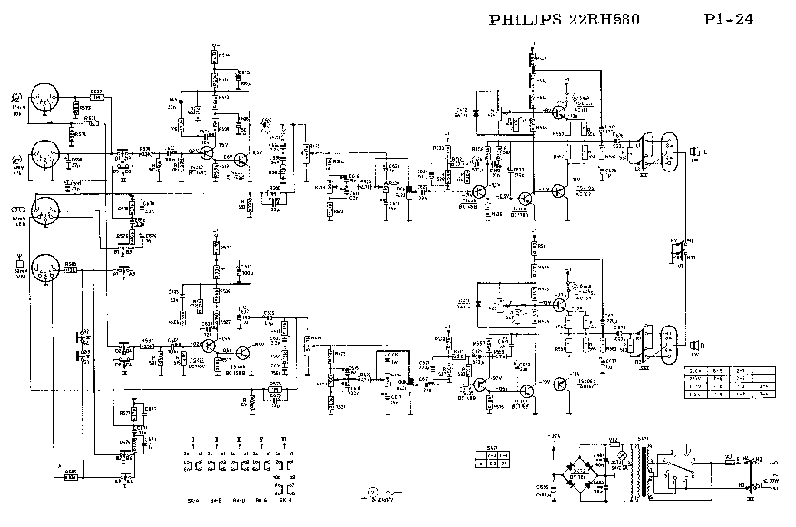 PHILIPS 22RH580 SM Service Manual download, schematics