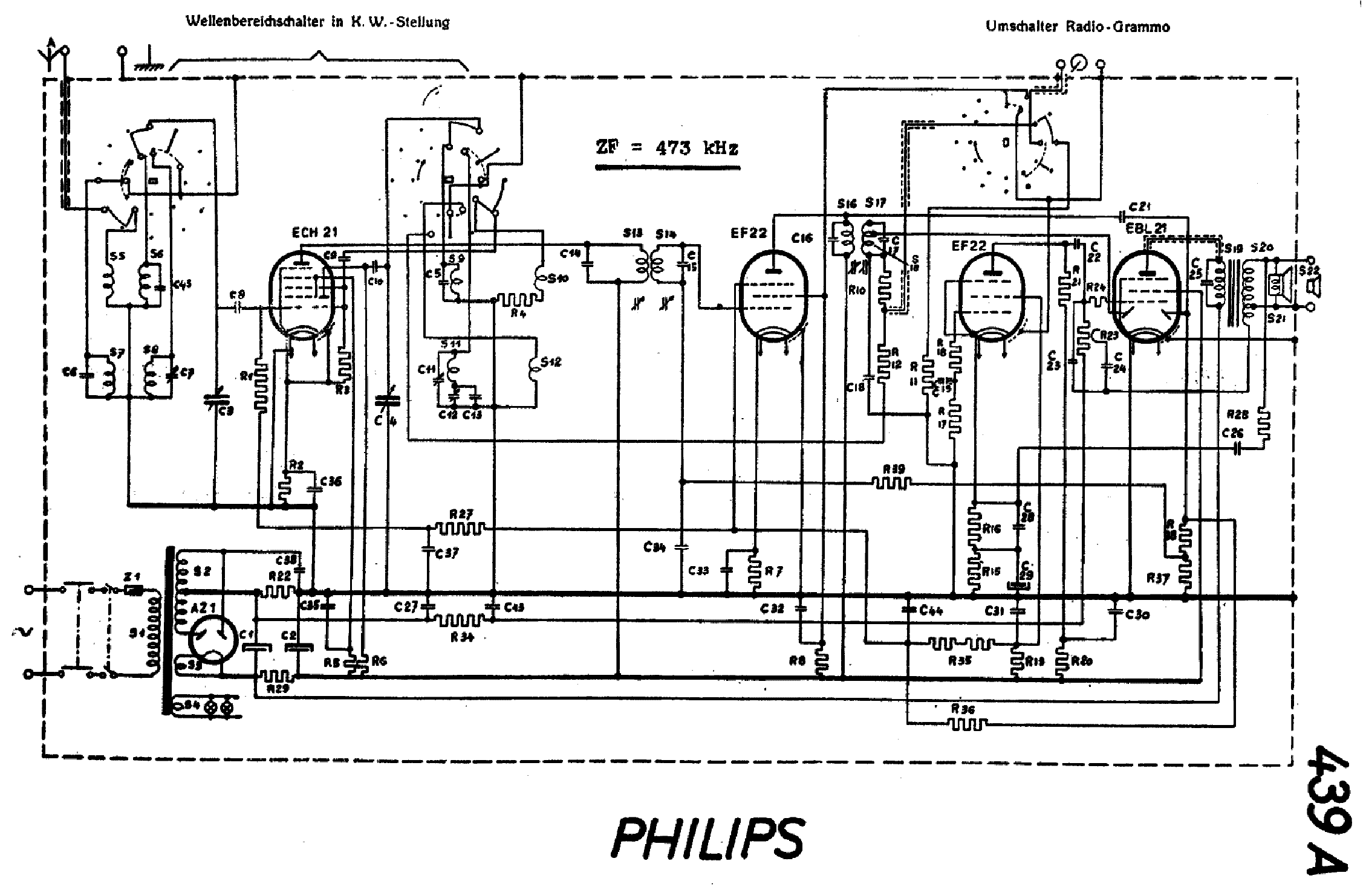 PHILIPS 439A SCH Service Manual download, schematics