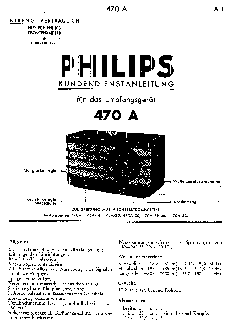 PHILIPS 470A 1 Service Manual download, schematics, eeprom