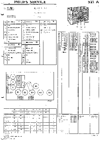 PHILIPS 521A AC RADIO 1934 SM Service Manual download