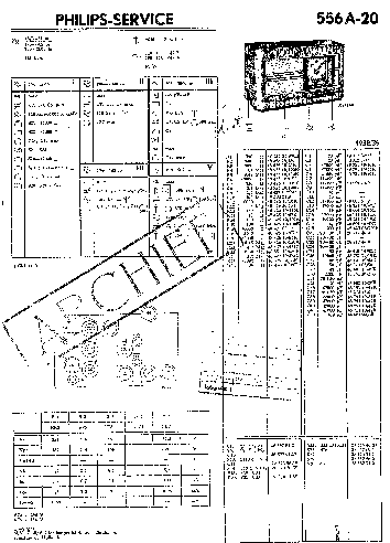 PHILIPS 556A-20 AC RADIO 1938 SM Service Manual download