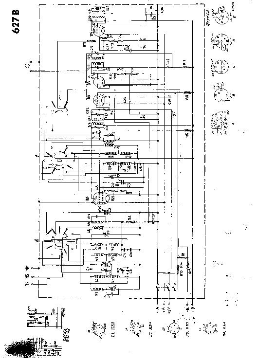 PHILIPS 627B BATTERY RADIO 1937 SM Service Manual download