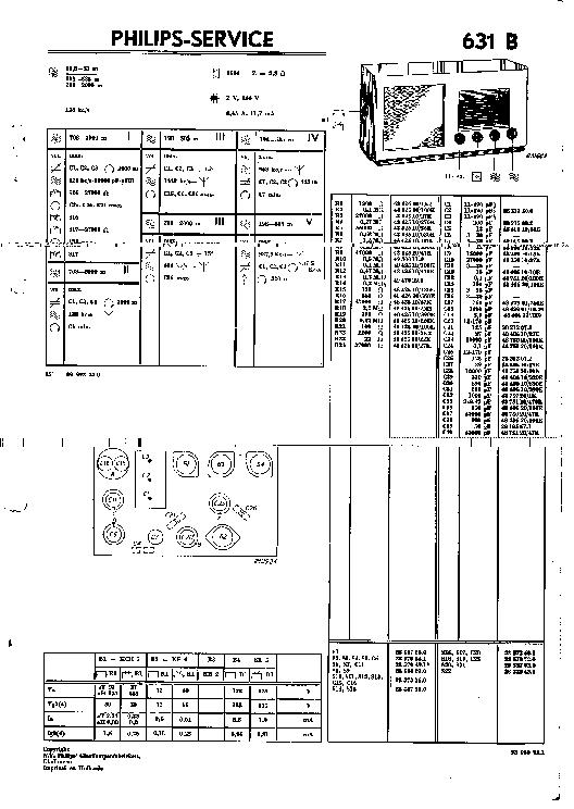PHILIPS BX640A SIERA SA-8041A RADIO 1954 SM Service Manual