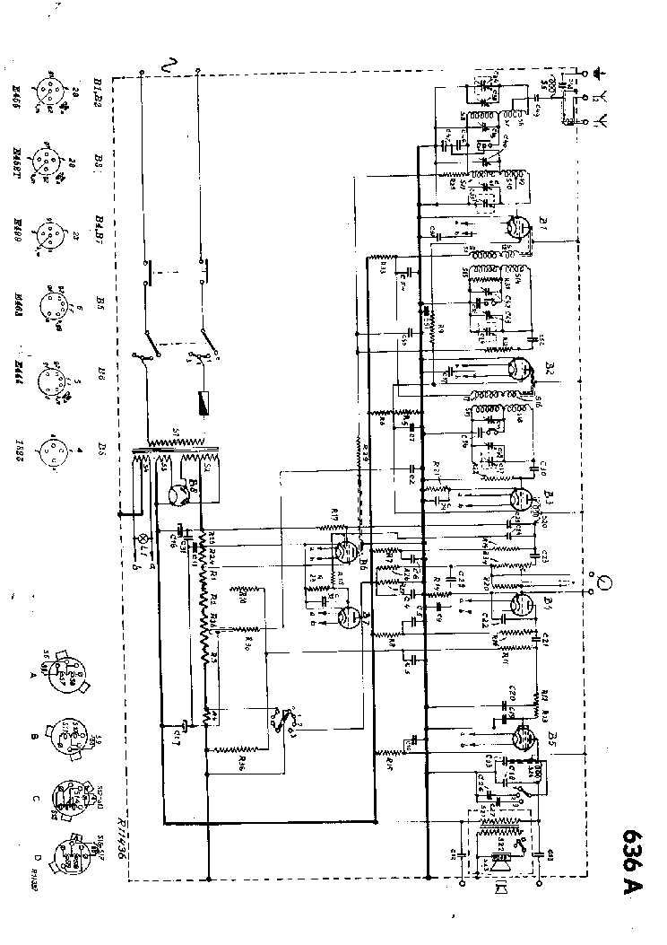 PHILIPS 636A Service Manual download, schematics, eeprom
