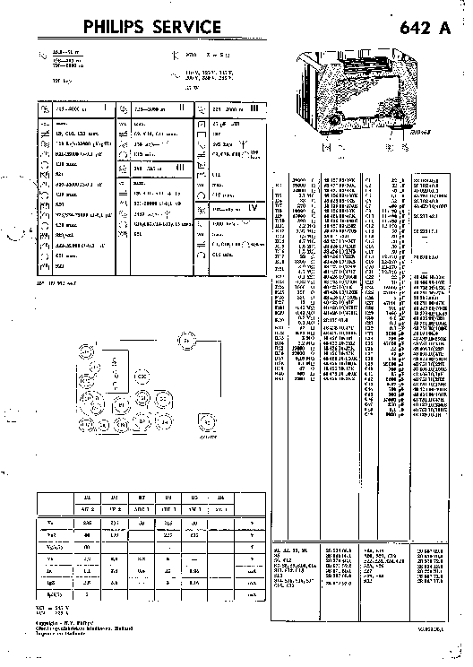 PHILIPS 642A AC RADIO 1939 SM Service Manual download