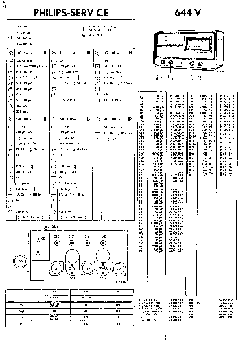 PHILIPS 634A SM Service Manual download, schematics