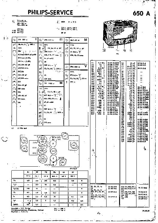 PHILIPS N2552 DE Service Manual free download, schematics