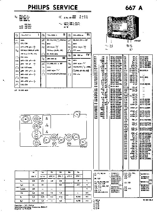 PHILIPS 667A AC RADIO 1937 SM Service Manual download