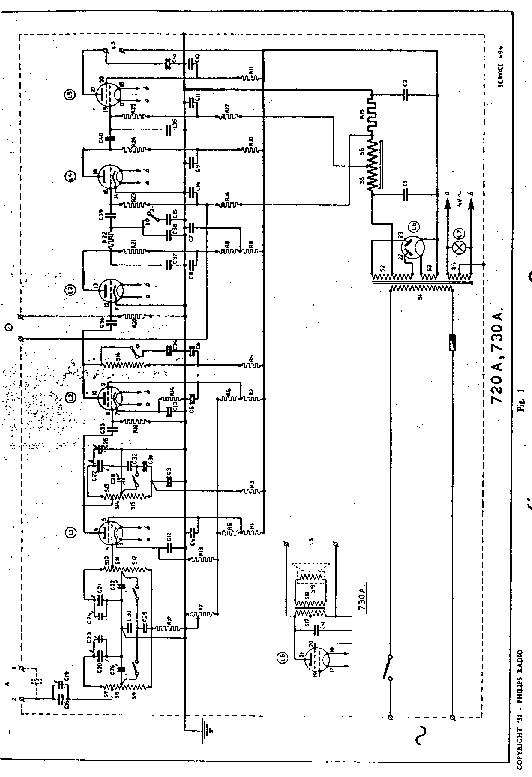 PHILIPS 730A AC RADIO SM Service Manual download