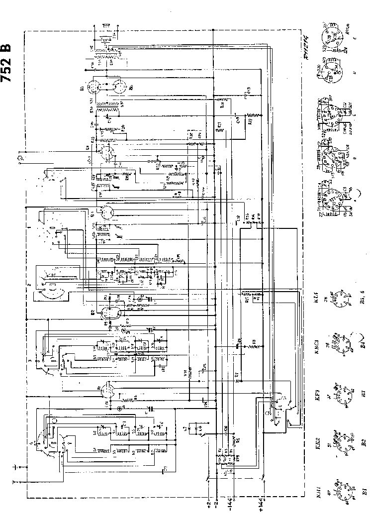 PHILIPS 752B Service Manual download, schematics, eeprom