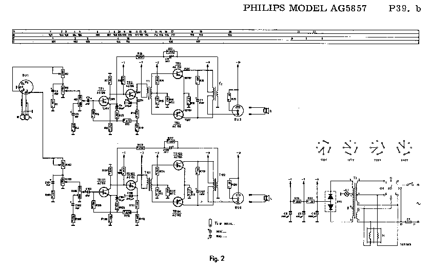 PHILIPS AG-5857 SM Service Manual download, schematics