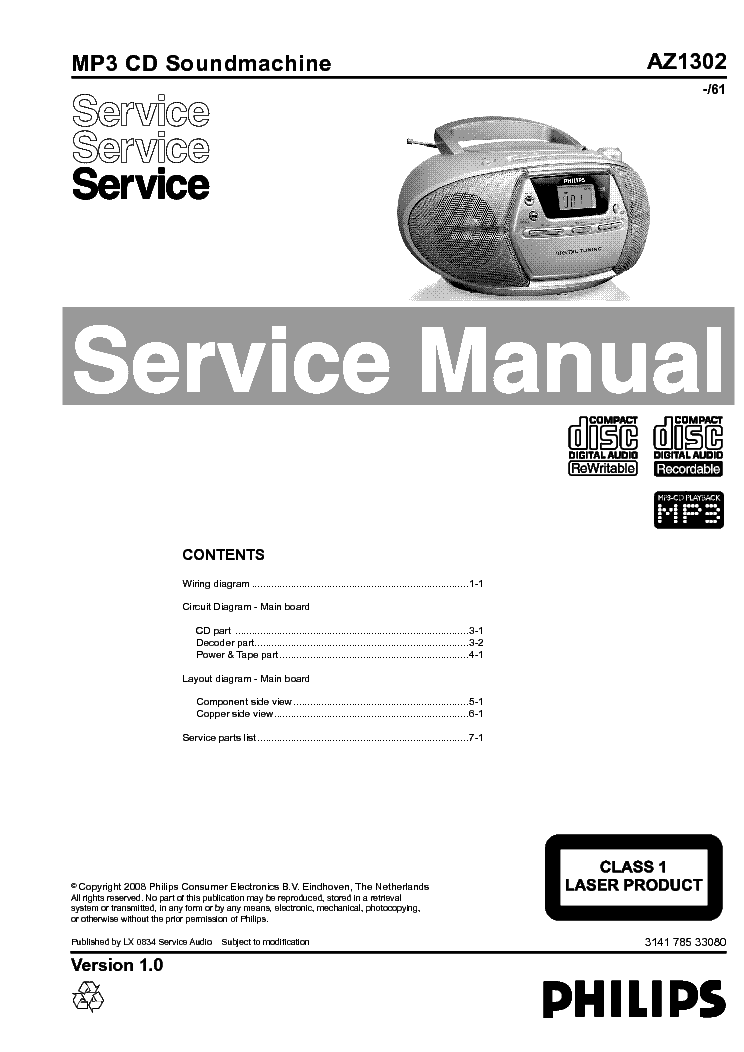 PHILIPS 22GH915 Service Manual download, schematics