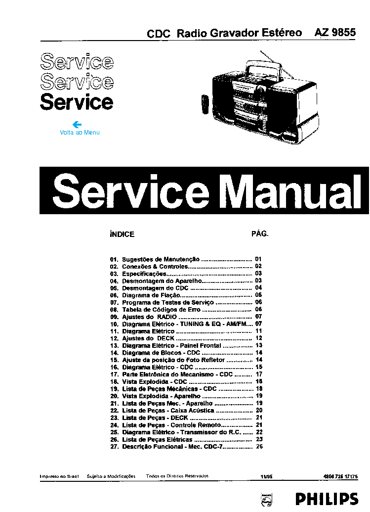 PHILIPS CDM1MK2 SM Service Manual free download