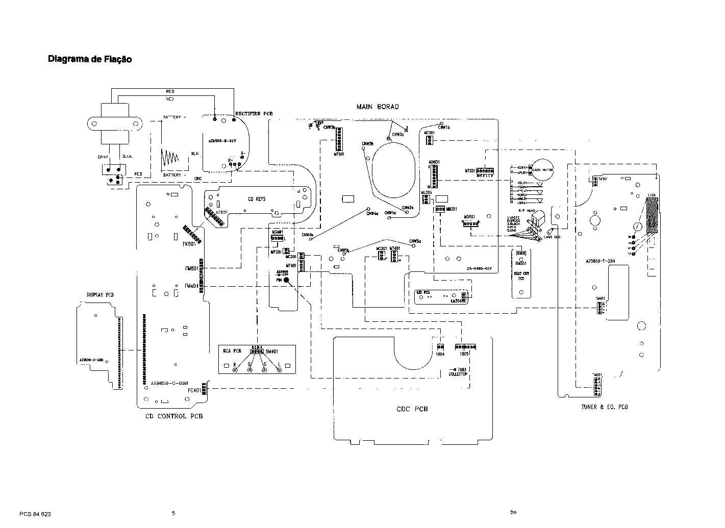 PHILIPS AZ9855 SM Service Manual download, schematics