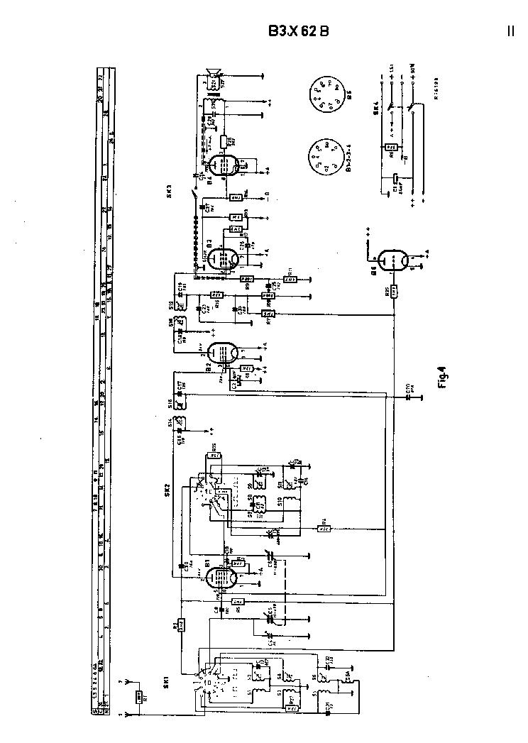 PHILIPS B3X62B BATTERY RADIO 1956 SM Service Manual
