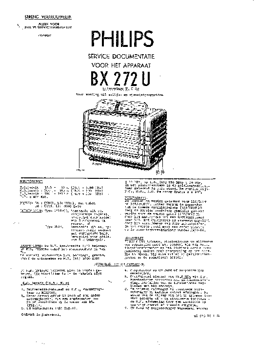 PHILIPS BX272U Service Manual download, schematics, eeprom