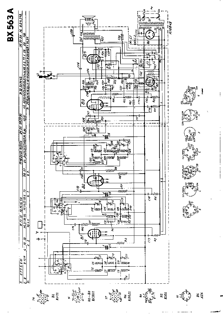 PHILIPS BX563A RADIO 1947 SM Service Manual download
