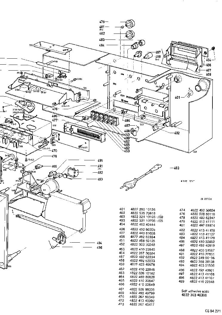 PHILIPS D8634 EXPLO PARTS Service Manual download