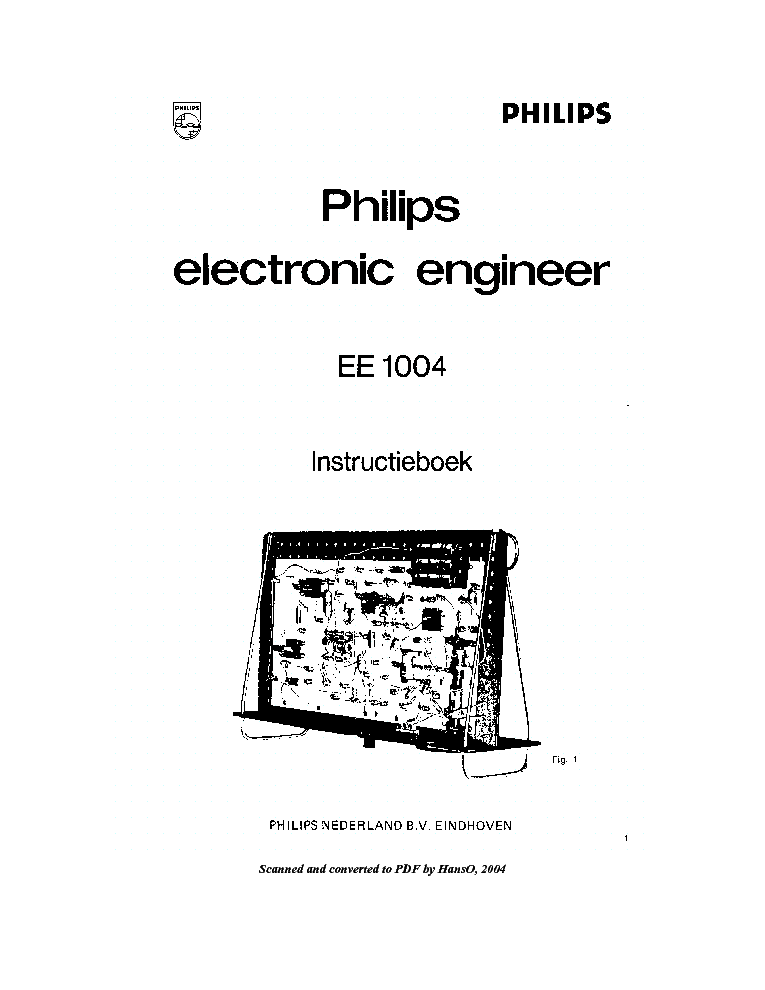 PHILIPS EE1004 MAGNETOPHONE SM Service Manual download