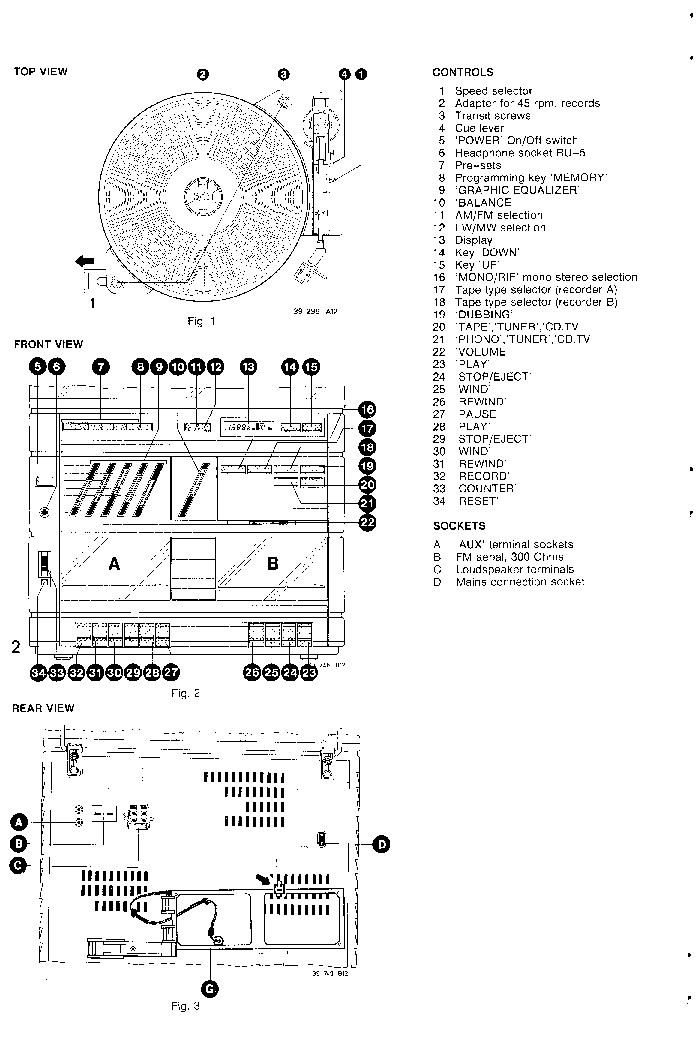 PHILIPS F1664 F1667 Service Manual download, schematics