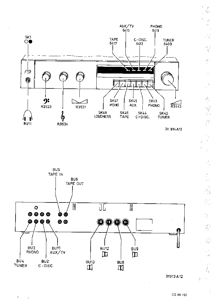 PHILIPS F4132 SM Service Manual download, schematics