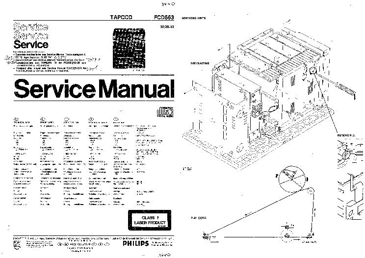 PHILIPS FCD563 Service Manual download, schematics, eeprom