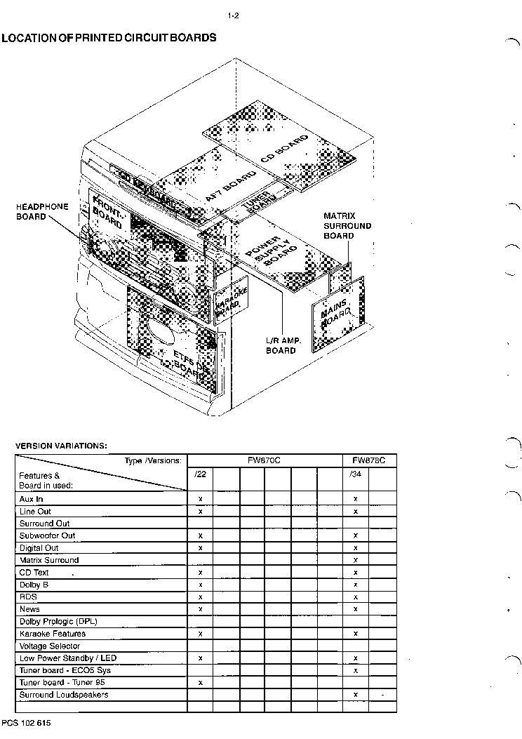 PHILIPS FW870C FW878C Service Manual download, schematics