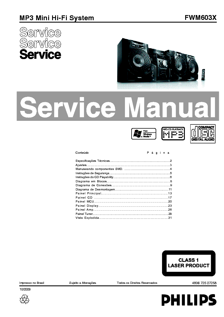 PHILIPS B6X04A Service Manual free download, schematics