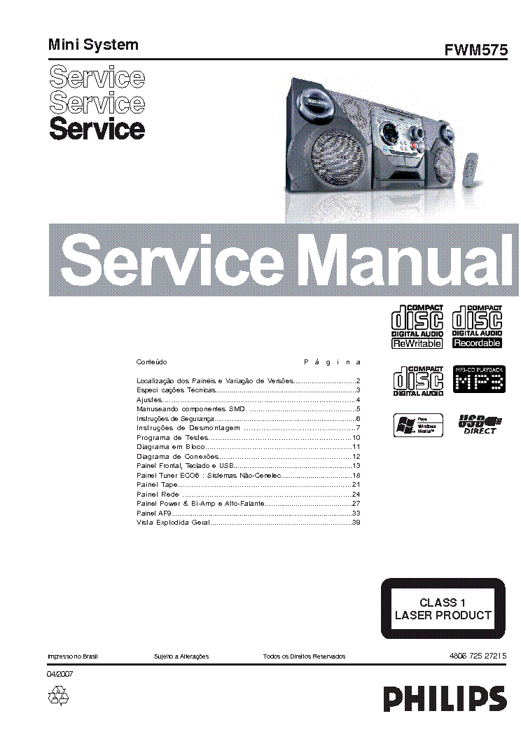 PHILIPS N-4307 GE Service Manual free download, schematics