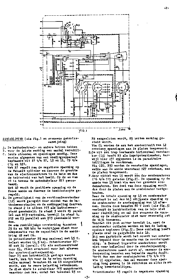 PHILIPS GM3155 OSCILLOSCOPE 1946 SM Service Manual