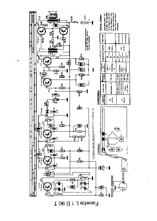 PHILIPS L1D90T FANETTE PORTABLE RADIO 1959 SM Service