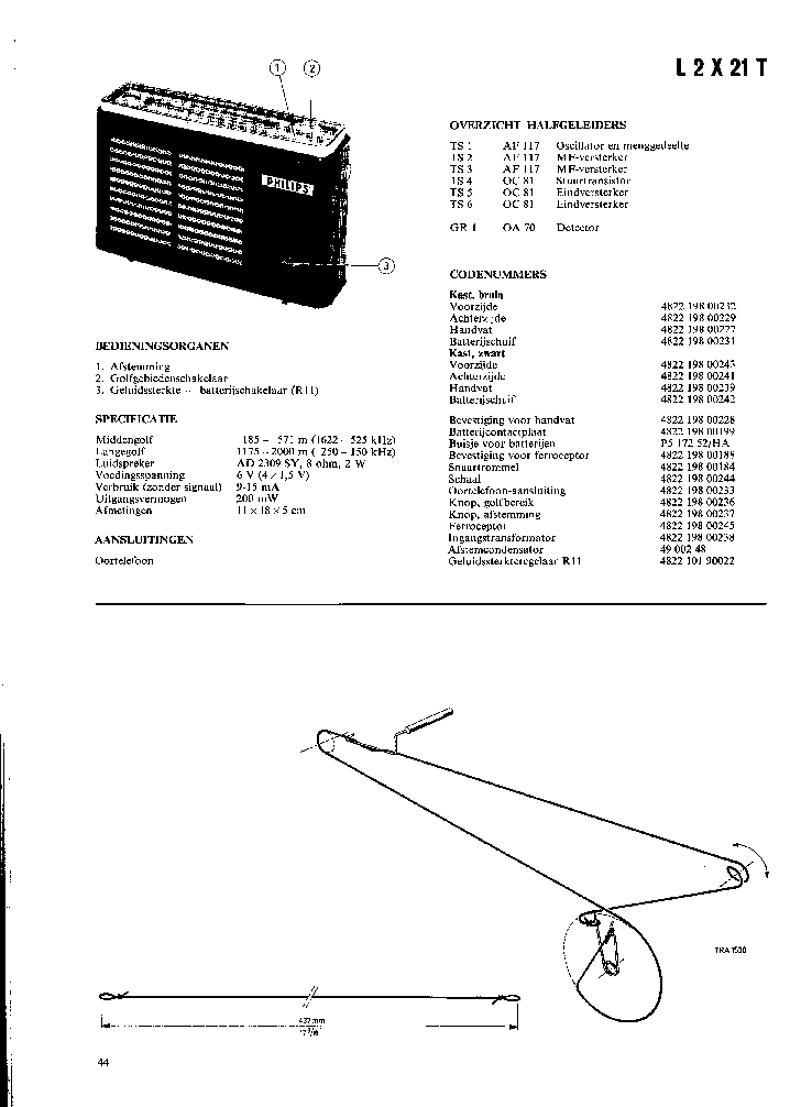 PHILIPS L2X21T PORTABLE RADIO SM Service Manual download