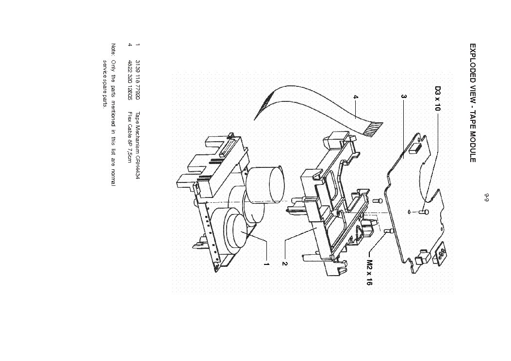 PHILIPS MC-70 TAPE-MECHANISM Service Manual download