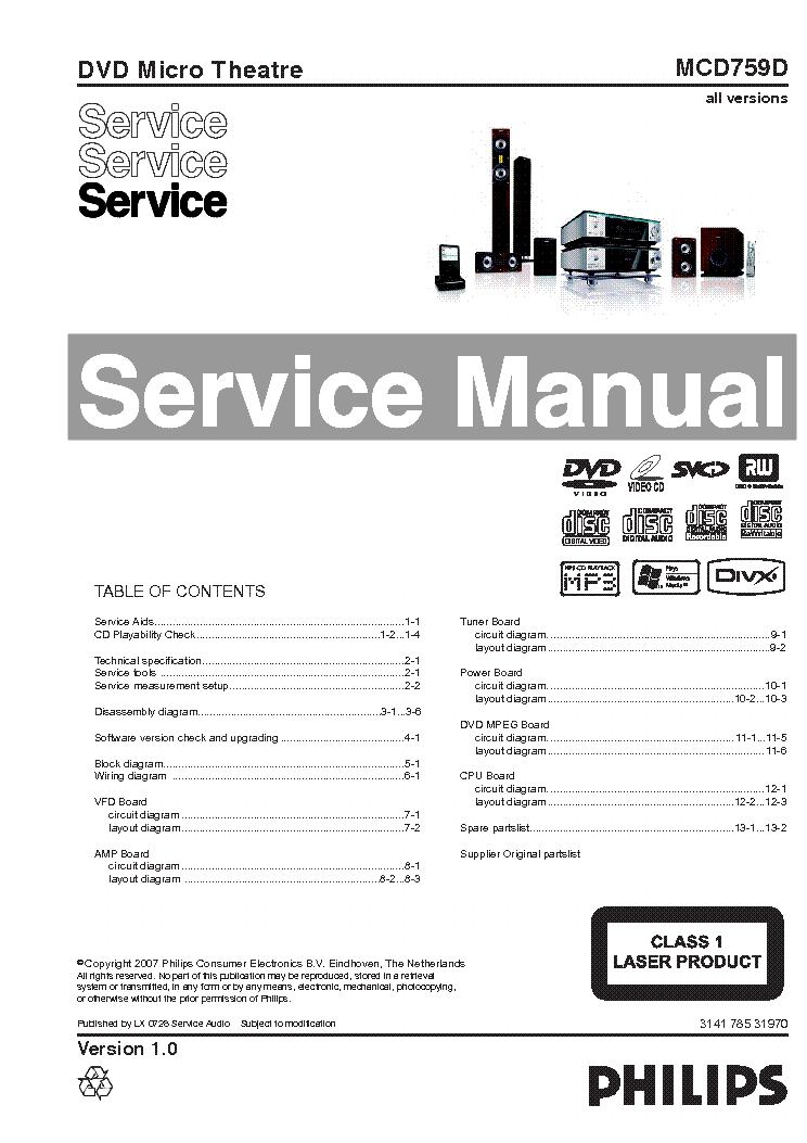 PHILIPS B4X02A AM-FM RADIO SM Service Manual download